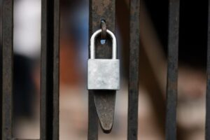 Lock to represent web design agency with professional security