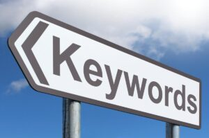 target keywords sign to represent digital marketing agency
